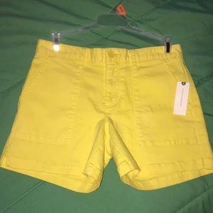 Sanctuary x Anthropologie size 24 yello shorts NWT